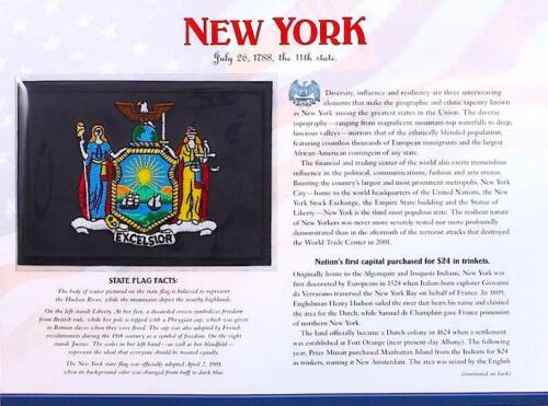 NEW YORK  Willabee & Ward STATE FLAG PATCH on INFO CARD United States Collection