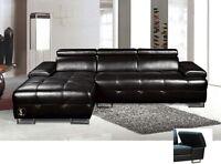 $999 - Sectional living-room set  Black