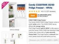 Candy fridge freezer, is new never been used
