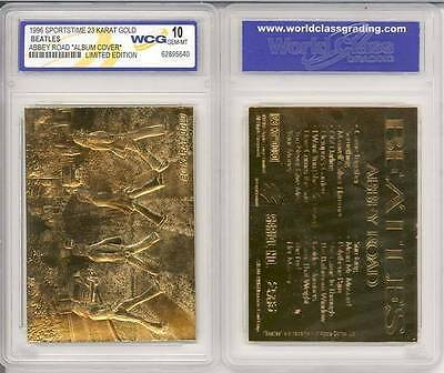 BEATLES ABBEY ROAD Album Cover 23KT Gold Card Sculptured - Graded GEM MINT 10 for sale  Shipping to Canada