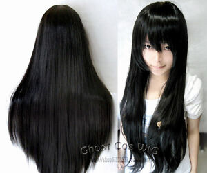 60cm/80cm/100cm Long Straight Cosplay Fashion Wig 20 Colors Free shipping+wigcap