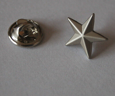 Stern Silberfarben Silber Pin Button Badge Anstecker Anstecknadel TOP
