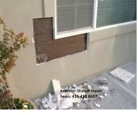 Stucco repair and removal