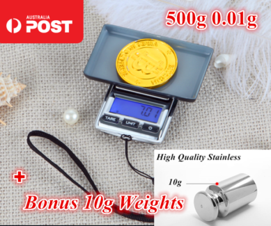500g 0.01 DIGITAL POCKET SCALES JEWELLERY weights
