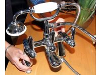 Beautiful bath shower mixer tap and matching basin taps