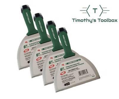 Usg Sheetrock 6 High Carbon Steel Pro-series Drywall Joint Knife 4 Pack