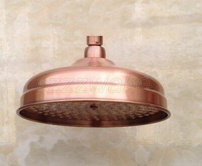 Antique Red Copper 8 inch Round Bathroom Rainfall Shower Head Zsh054
