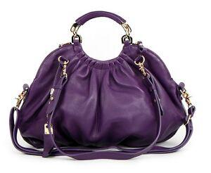 A8220-new-black-purple-Leather-women-handbag-purse-Bag-tote-hobo-shoulder-bag