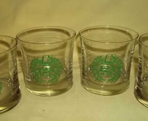 Six Vintage The Big E Erie County Savings Bank 125th Year Commemorative Glasses
