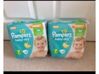 Pampers baby dry nappy size 7