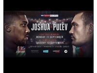 2 x Floor Seats for Anthony Joshua vs Pulev at Principality Stadium on 28th October