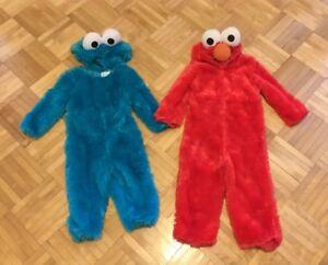 Sesame Street Elmo and Cookie Monster Monstre Costumes Halloween