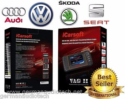 SEAT SKODA VW OBD2 BEST DIAGNOSTIC SCANNER TOOL ERASE FAULT CODES iCARSOFT VAGII