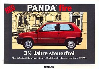Fiat Panda Fire German market colour sales brochure 1986