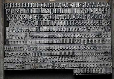 Bleischrift 13 mm Bleisatz Buchdruck Alphabet Handsatz Blei Prägeschrift Prägen