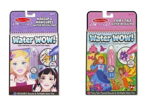 Melissa & Doug Water Wow fairy tale and Makeup Color pad 2PK