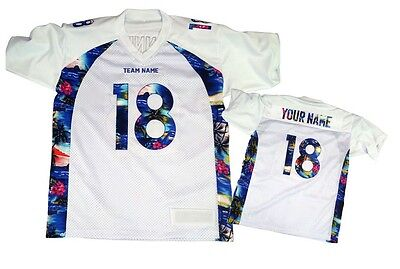 Custom Football Jersey Special design any size Blue White
