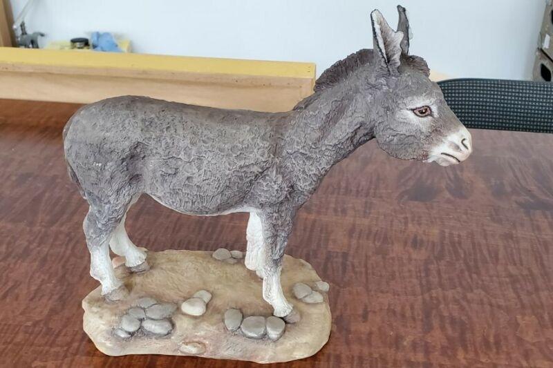Boehm Porcelain Donkey Figurine