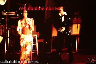 Original Photo 35mm Slide Sonny & Cher 1976 In Concert