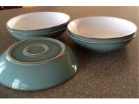 REDUCED! 5xDenby Regency Green Pasta Bowls
