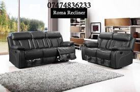 bonded leather Roma recliner/also available in corner/lot of other recliners also available cW