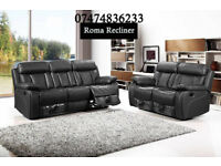 bonded leather Roma recliner/also available in corner/lot of other recliners also available TUq