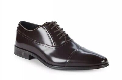 Versace Collection Men's Patent Leather Oxfords Dark Brown Size Size 11 $650