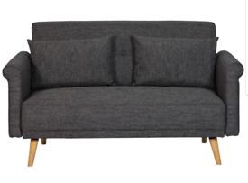 Argos Home Evie 2 Seater Fabric Sofa- Charcoal