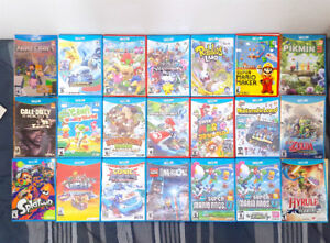Nintendo WII U Games ( Pick Up Only & Price in Description )
