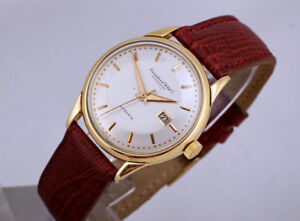 VINTAGE IWC 18K GOLD AUTOMATIC 8521 CALIBER WITH DATE WATCH