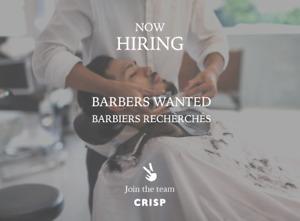 WANTED: Full Time Barbers - Upcoming Barbershop