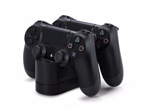 PS4 Controllers and Charging Station