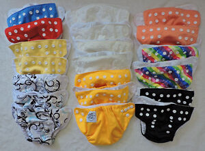 20 Piggy Winx newborn pocket cloth diapers w/microfiber inserts