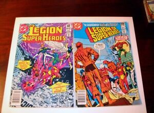 2 Comic Books,DC #274-284 Legion of Super Heroes CPrice 50¢,60¢