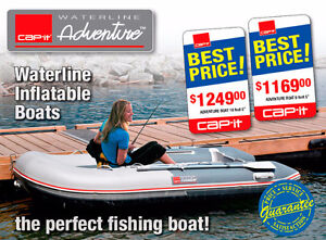 Waterline inflatable boats