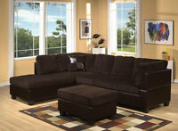 NEW CORDUROY SECTIONAL WITH OTTOMAN $548 WE DELIVER