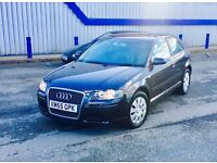 2006 AUDI A3 1.6, 11 MONTHS MOT, LEATHER INTERIOR, SPOT ON CONDITION £2,600