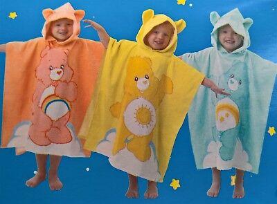 ~ Care Bears - HOODED GIRLS BATH BEACH SWIM POOL TOWEL Wish Cheer -