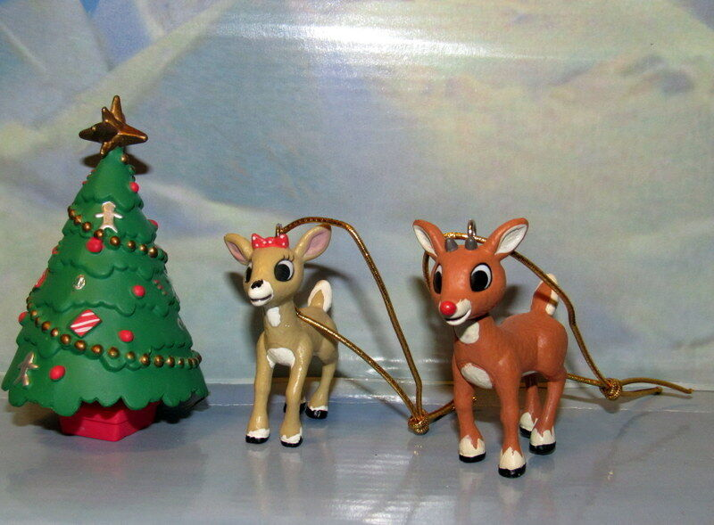 Rudolph The Red Nosed Reindeer  Rudolph and Clarice Ornaments