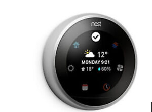 NEST LEARNING THERMOSTAT 3RD GENERATION*** STAINLESS STEEL ***