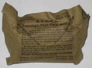 WWII - 1943 - R.C.A.M.C Dressings, First Field, Mark III