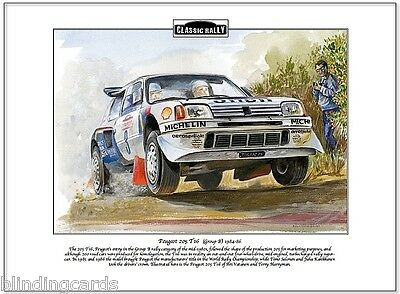 PEUGEOT 205 T16 (Group B) 1984-86 - Classic Rally Fine Art Print - A4 size image