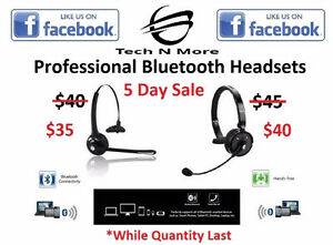 Professional Bluetooth Headsets (5 DAY SALE)