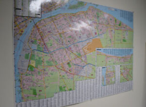 Large Laminated Map of Windsor and surrounding areas