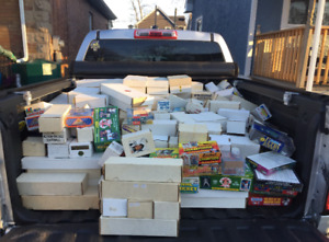 Truckload of Baseball and Hockey Card Sale