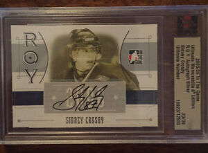 Sidney Crosby Rookie of the year card