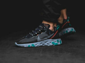 Nike React Element 87 Black Neptune Green Size 13 DS