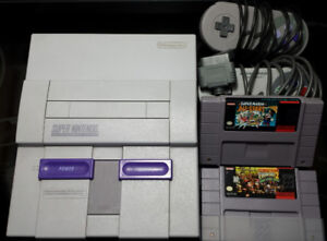 SNES Bundle 2-Players Mario All-Stars + DKC2 + 2x Controllers