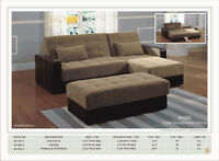 3PCS SECTIONAL WITH PULL OUT BED AND STORAGE OTTOMAN $699 NO TAX