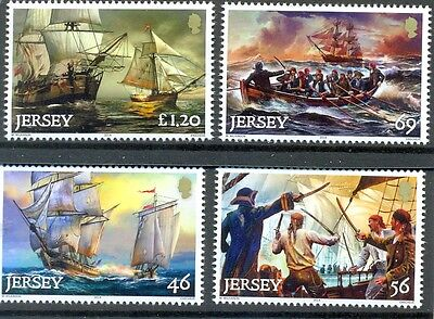 Jersey-Pirates and Privateering set of 4 mnh issue Oct.2014